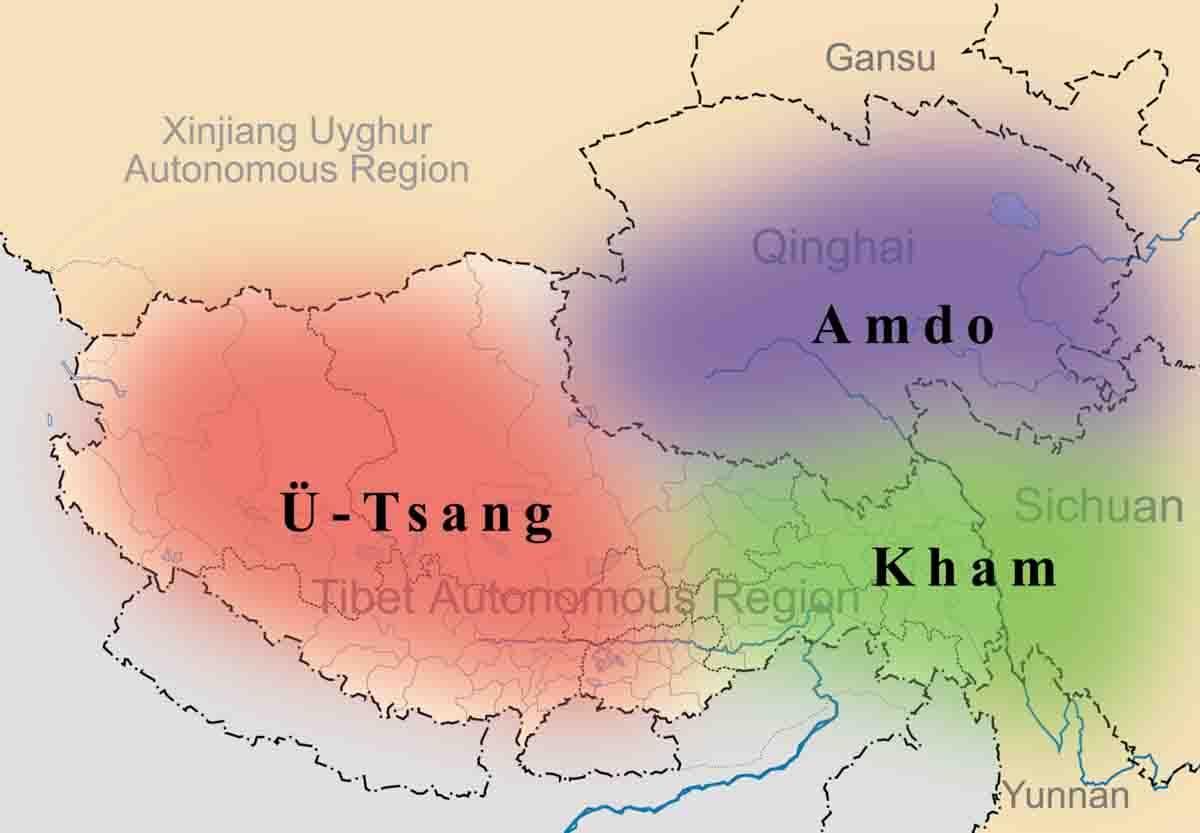 Cultural map of Tibet