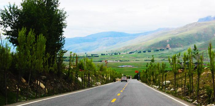 Ganzi county in Sichuan Province