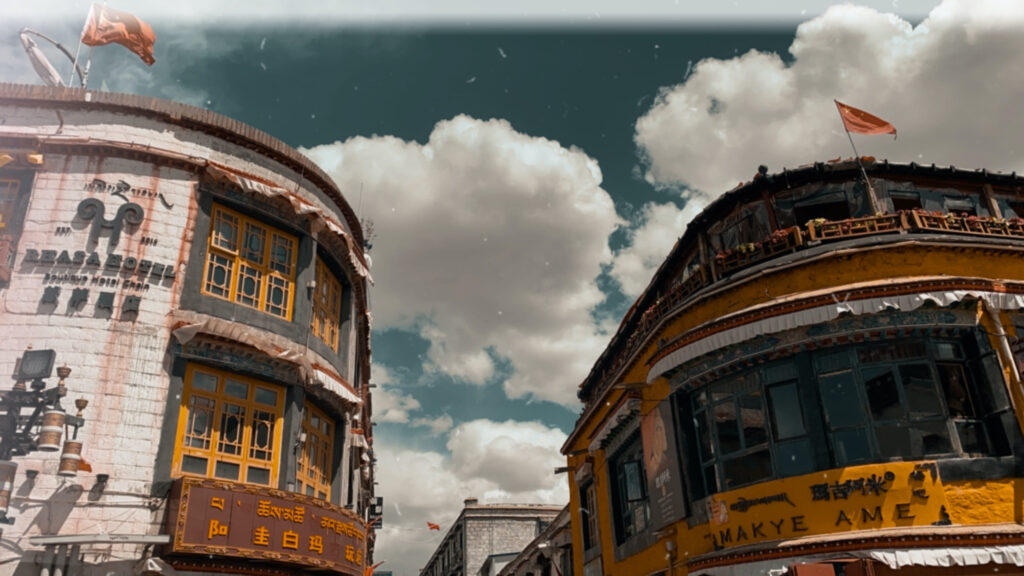 Tibetan restaurant in Lhasa