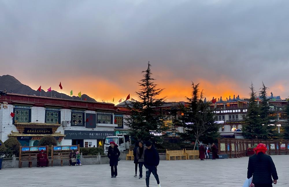 Barkhor Street in Lhasa
