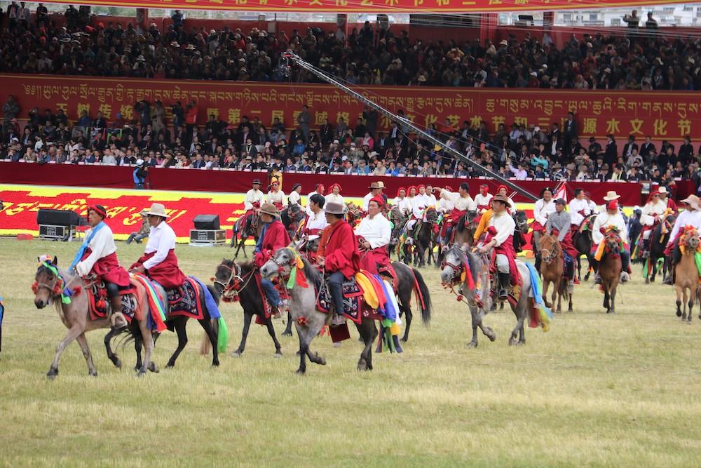 Marching on horseback